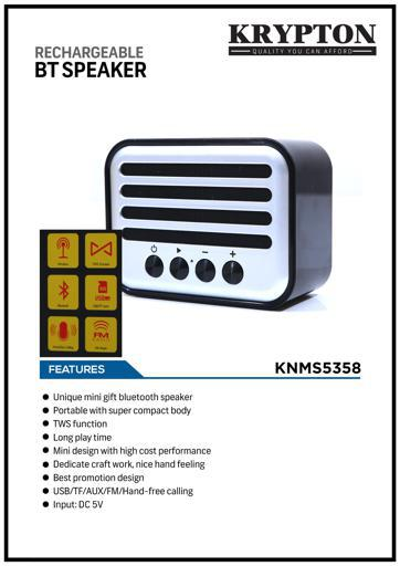 Rechargeable Portable Speaker, TWS Connection, Call Function, USB,TF Card