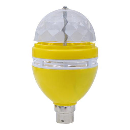 Rotating LED Lamp, 360 Degree Rotating Crystal Gola LED Bulb, LED Light, LED Disco Light for Party, Function, Christmas Decoration