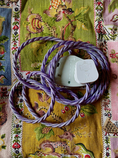 Lola's Leads - Pale Lavender 2m | Coloured Fabric Extension Cable