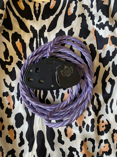 Lola's Leads - Lavender 2m | Coloured Fabric Extension Cable