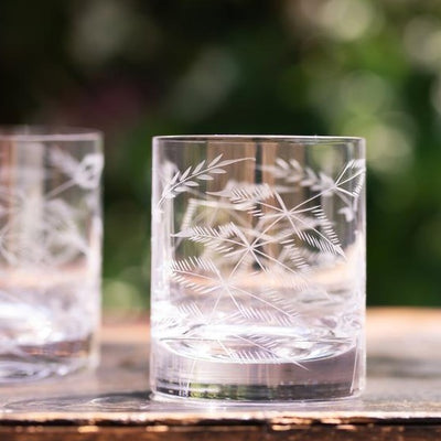 The Vintage List Ferns Whiskey Glasses Set of 2