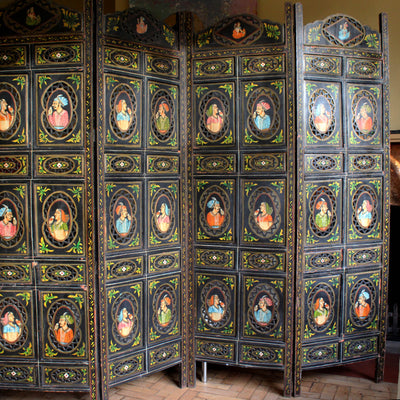Hand Painted Indian Lovers Screen