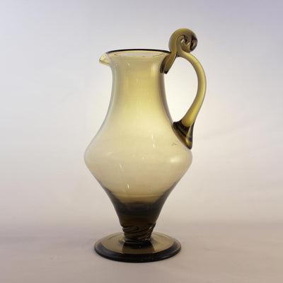 orrefors smoked glass jug