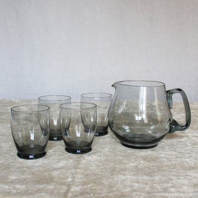 Scandinavian pitcher & glass