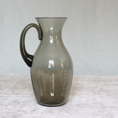 vintage smoked glass carafe