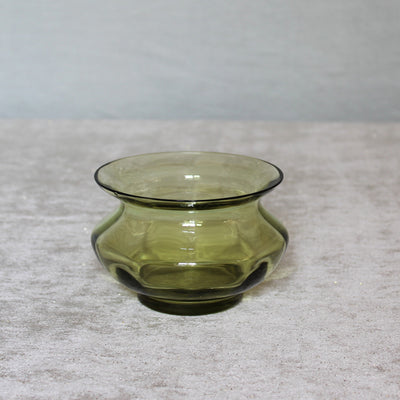 small green glass bowl