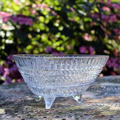 Triangular glass bowl