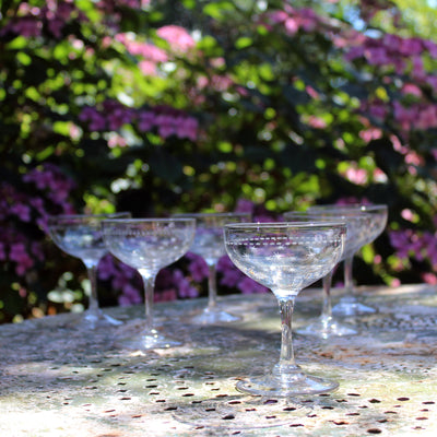19th century champagne coupes
