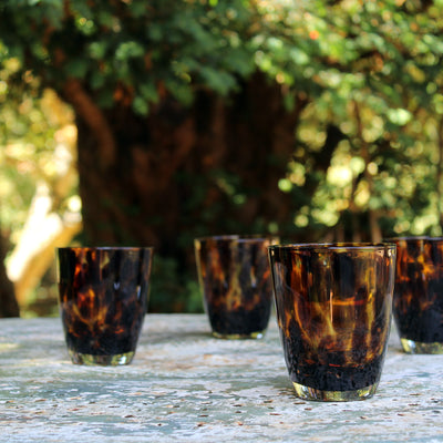 smoked leopard tumblers