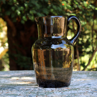 smoked glass tankard
