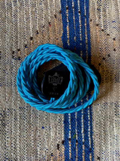 Lola's Leads - Turquoise 2m | Colour Fabric Extension Cord
