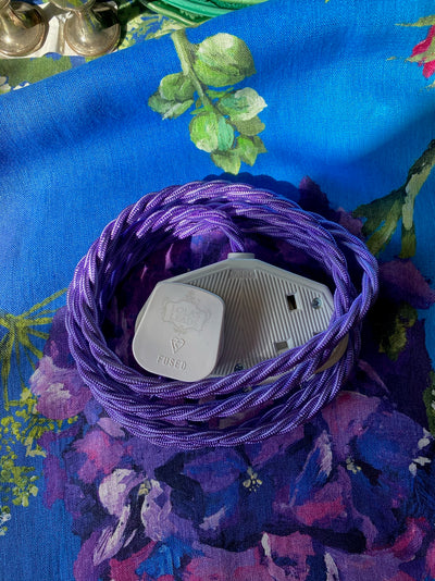 Lola's Leads - Parma Violet 2m | Colour Fabric Extension Cord