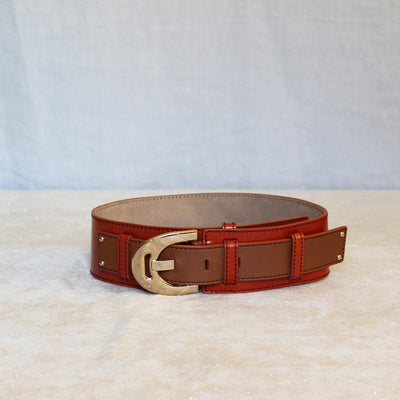 Celine Orange and brown belt
