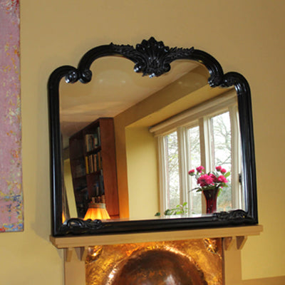 black mantle mirror