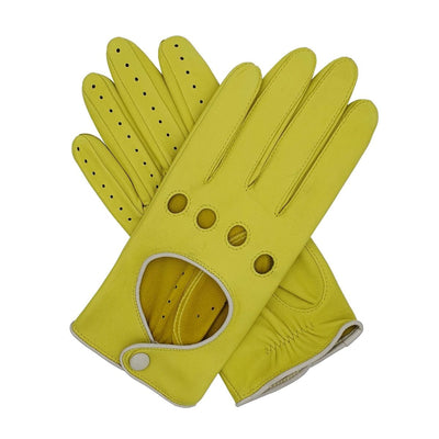 Southcombe Driving Gloves Jules Yellow Lemon