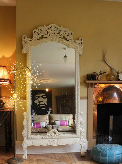 white dressing mirror