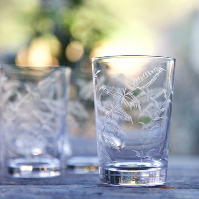 The Vintage List Fern Tumblers Set of 6