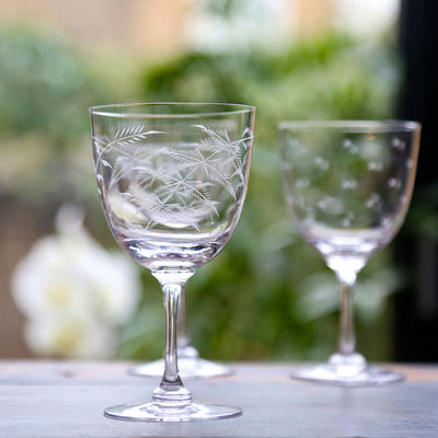 The Vintage List Ferns  Wine Glasses Set of 6