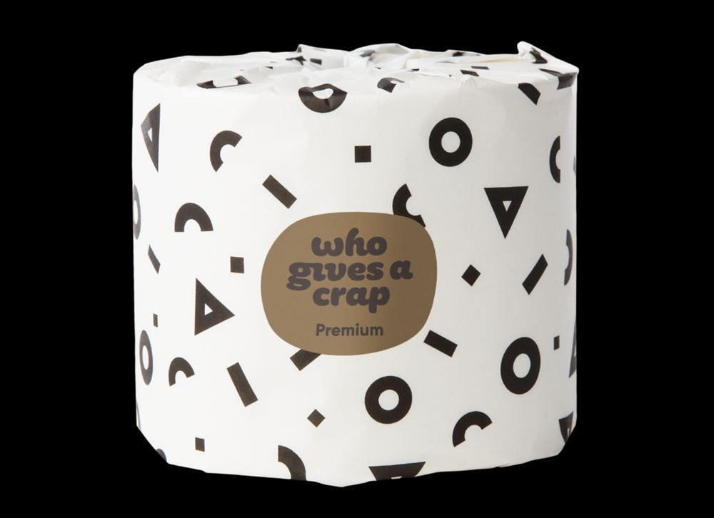 Who Gives a Crap Bamboo Toilet Paper - 48 double length rolls