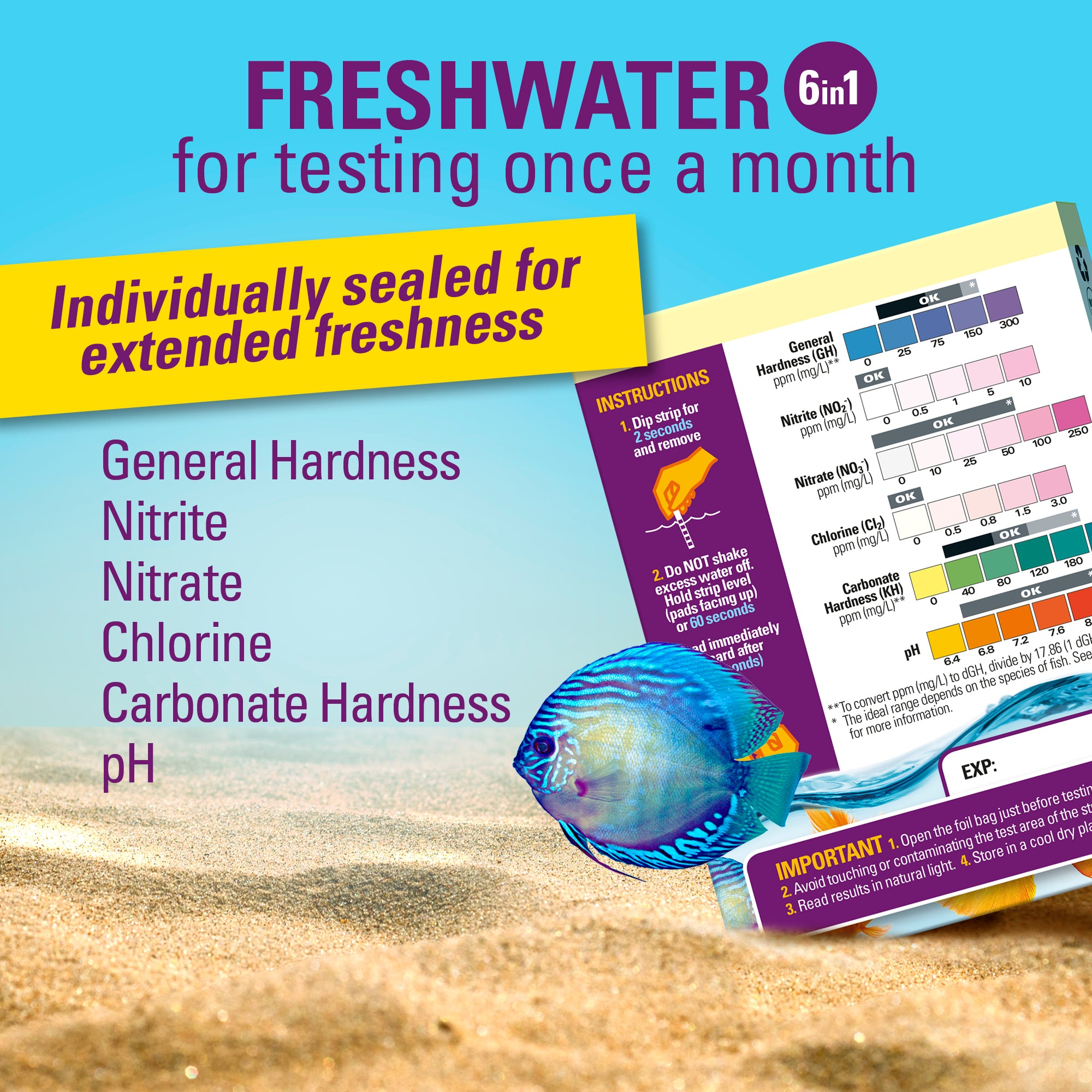 freshwater aquarium test strips