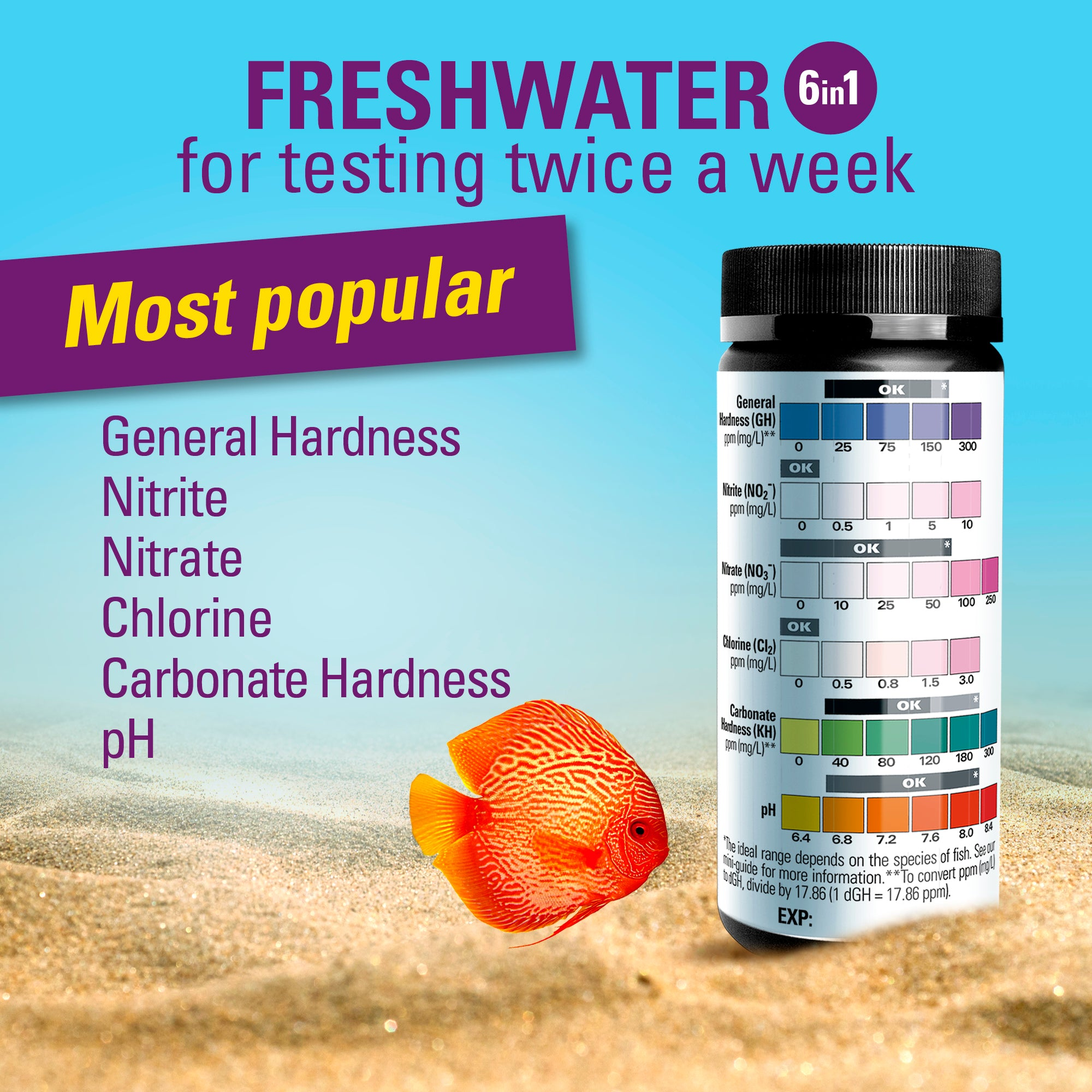 feshwater aquarium test strips