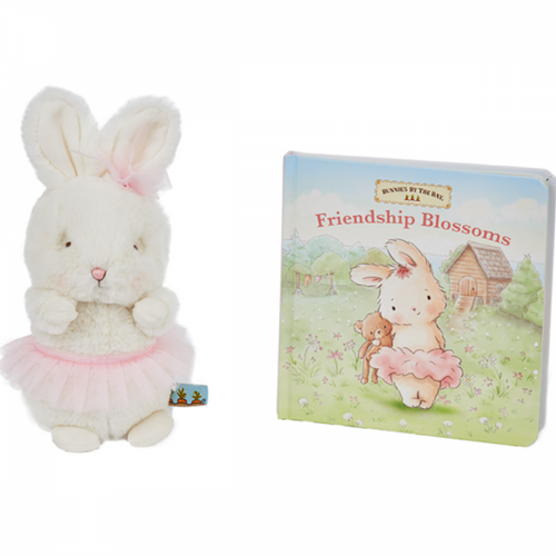 Gift Set: Cricket Island Friendship Blossoms Book and Plush Toy. Baby Gift.