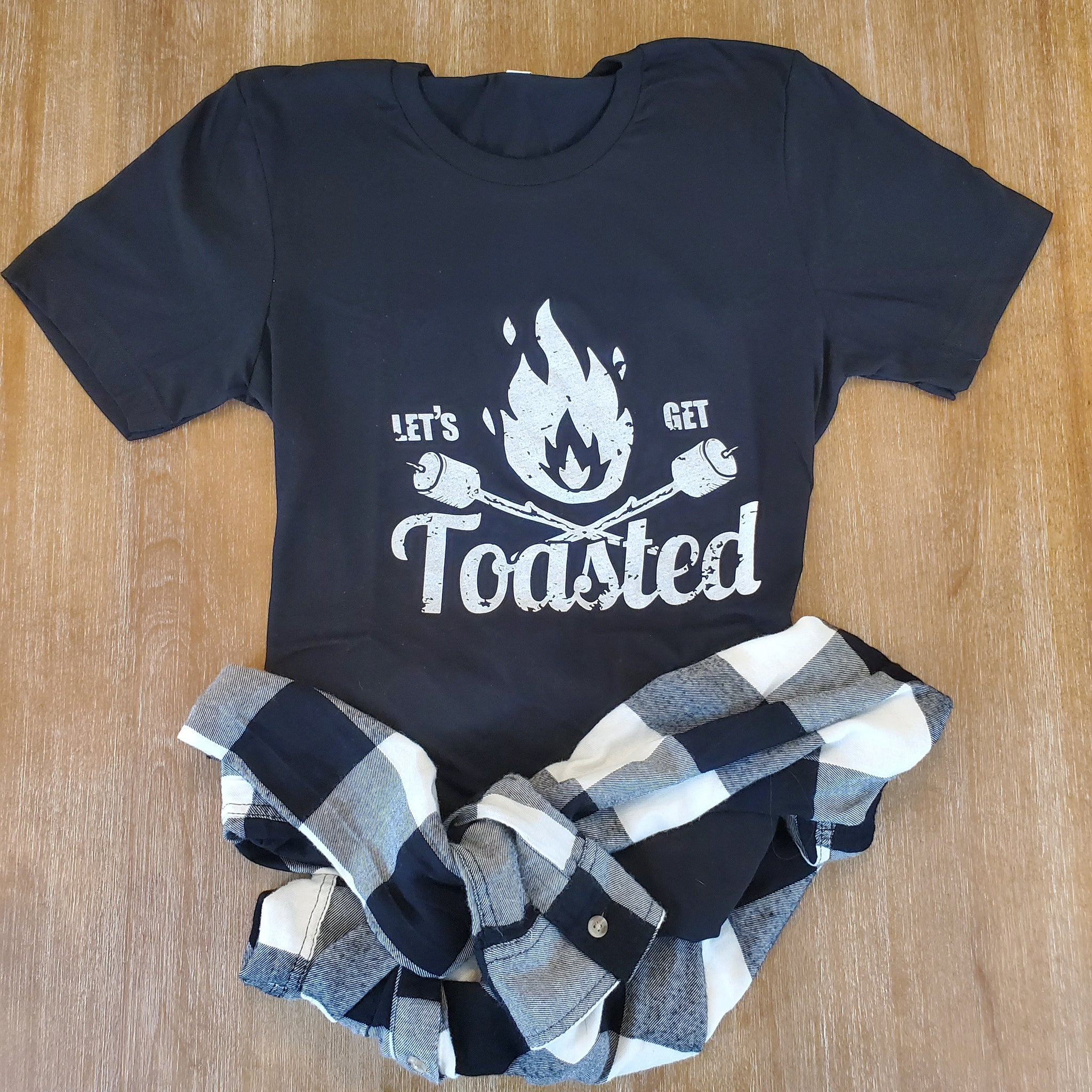 Let's Get Toasted Tee - Black