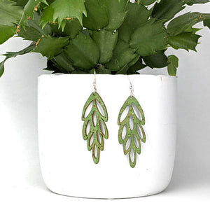 Cascade Cork Earrings - Green