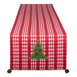 Jolly Tree Embellished Table Runner