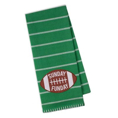 Sunday Funday Embellished Dishtowel