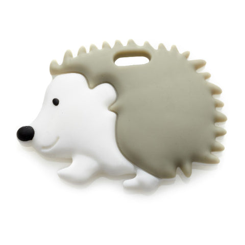 Ali+Oli Hedgehog Teether  (Soft Grey)
