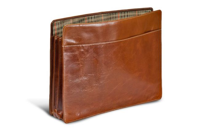 St. James Expandable Portfolio-Florentine Leather