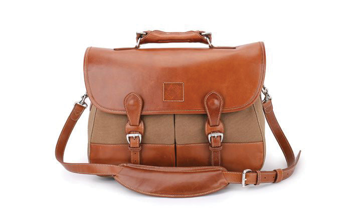 Burke & Wills Laptop Bag-Waxed Canvas
