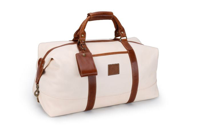Captain's Bag - Italian Blonde Leather/British Tan Florentine Trim