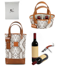 Load image into Gallery viewer, Westport 2 Bottle Wine Tote-Python