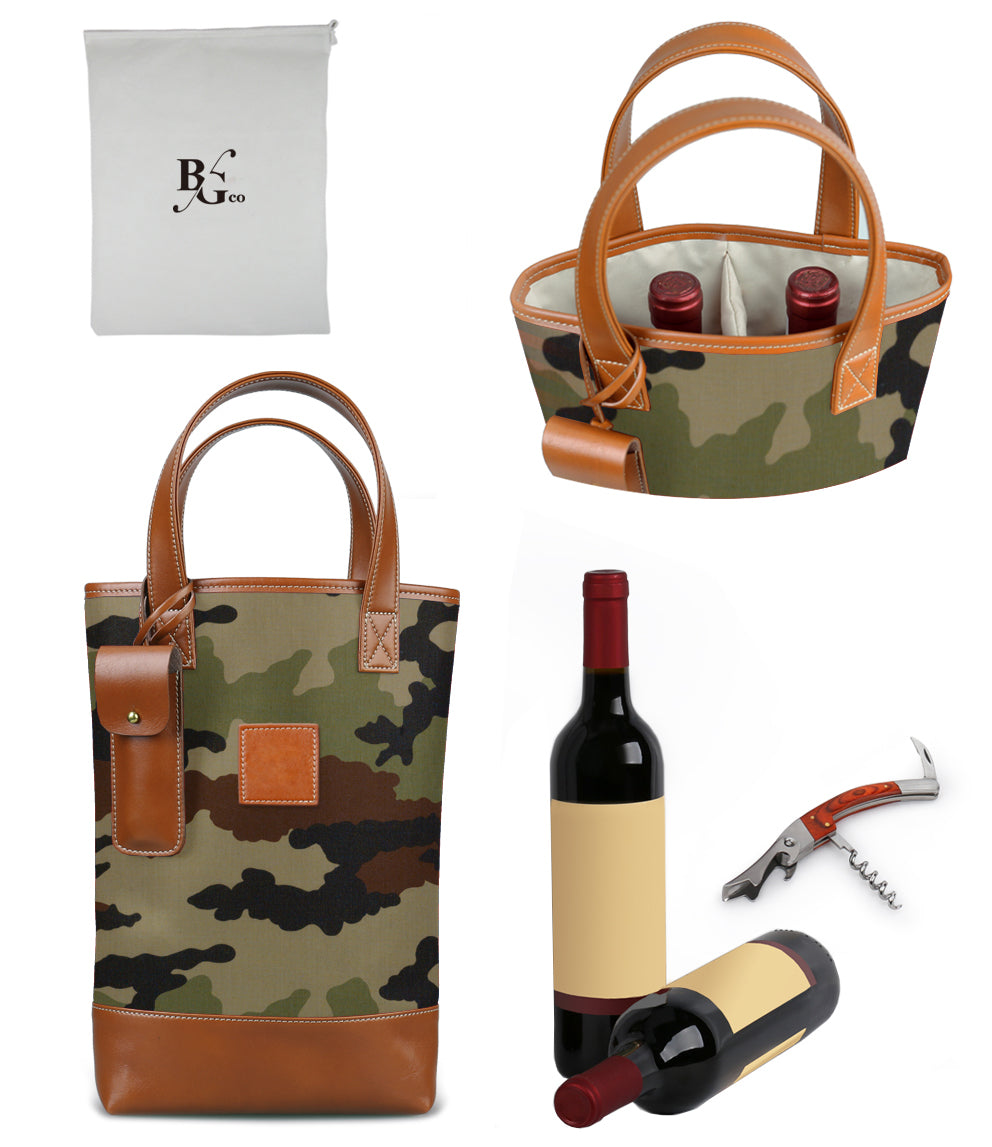 Westport 2 Bottle Wine Tote-Camo