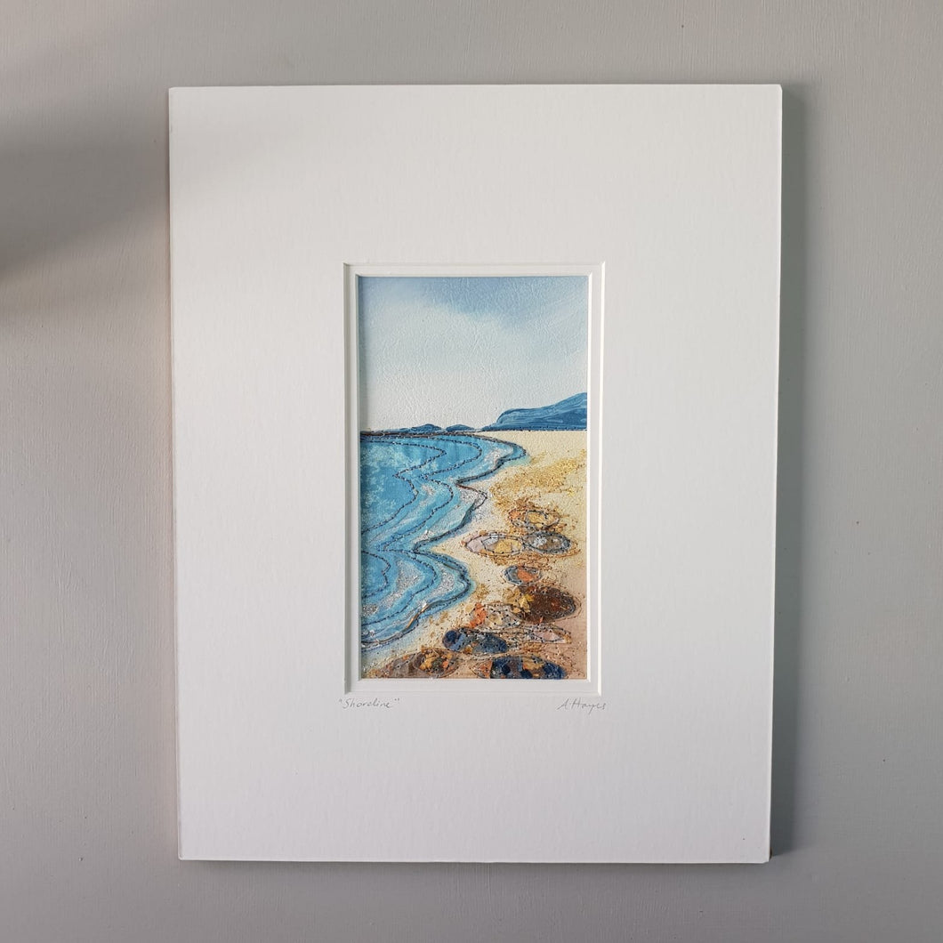 Small Mount Hand Made Textile Art: Shoreline