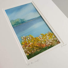 Load image into Gallery viewer, Small Mount Hand Made Textile Art: AT THE LOUGH - madebyhandni