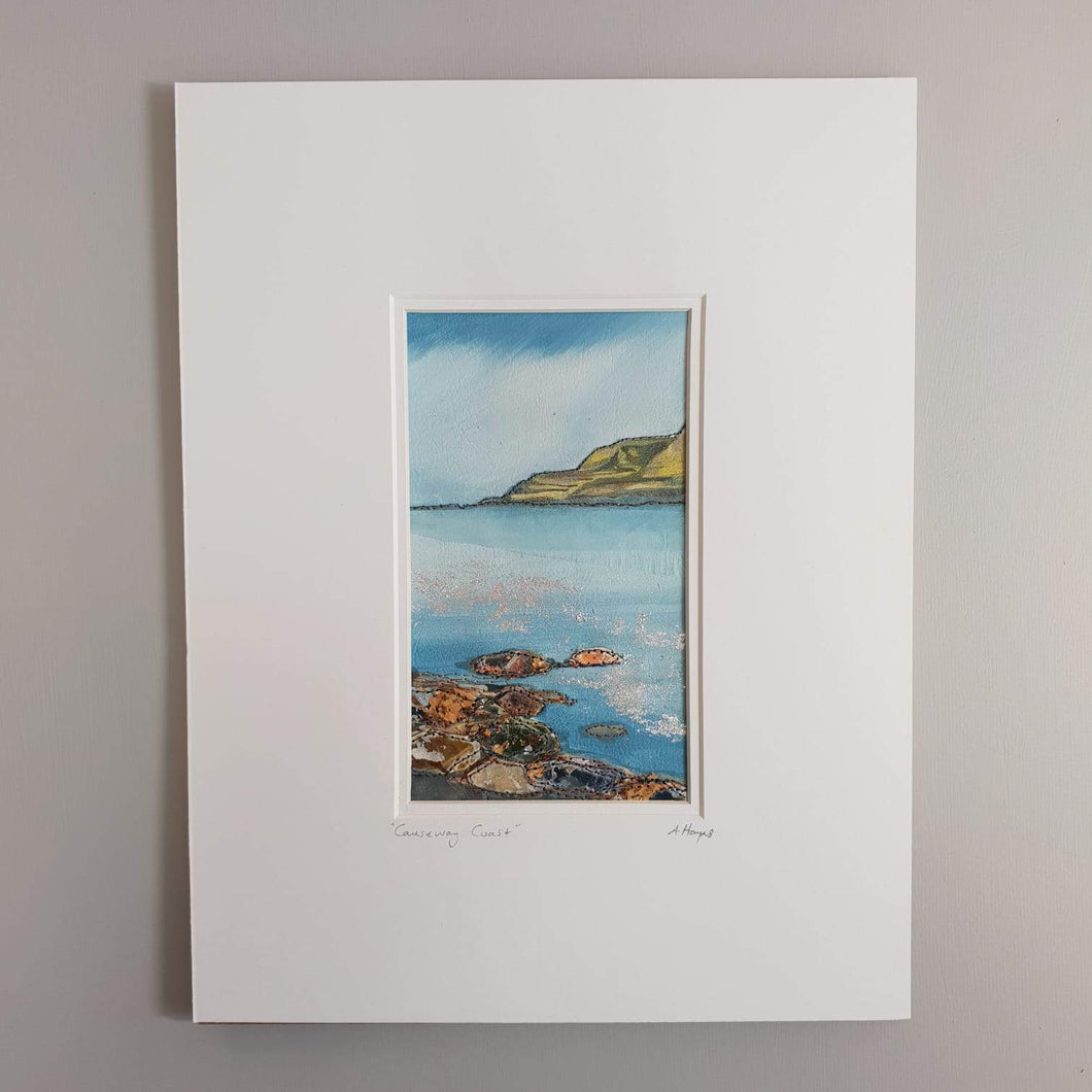 Small Mount Hand Made Textile Art: CAUSEWAY COAST - madebyhandni