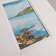Load image into Gallery viewer, Small Mount Hand Made Textile Art: CAUSEWAY COAST - madebyhandni