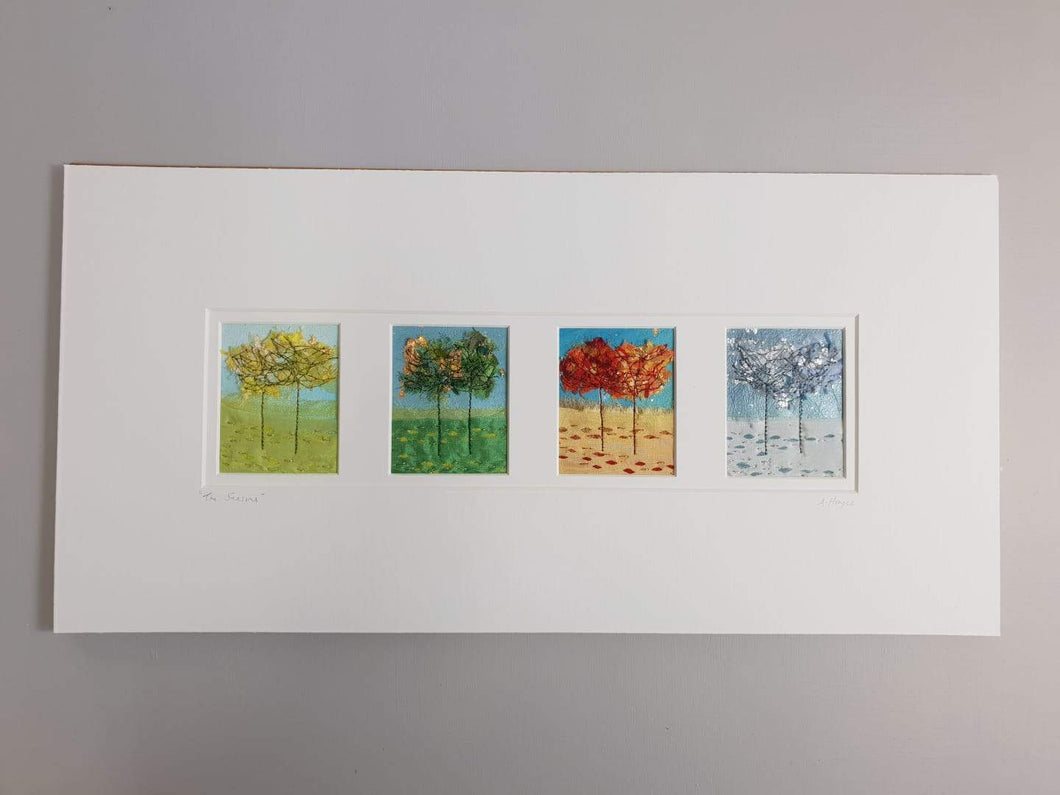 Large Mount Hand Made Textile Art: SEASONS - madebyhandni