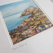 Load image into Gallery viewer, Medium Mount Hand Made Textile Art: GIANTS CAUSEWAY - madebyhandni