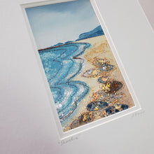 Load image into Gallery viewer, Small Mount Hand Made Textile Art: Shoreline