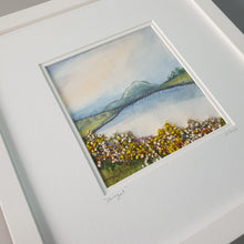 Load image into Gallery viewer, Medium White Square Frame Hand Made Textile Art: Donegal