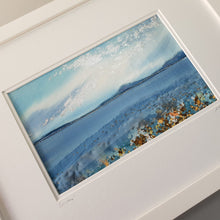 Load image into Gallery viewer, Large White Rectangular Frame Hand Made Textile Art: Coastline