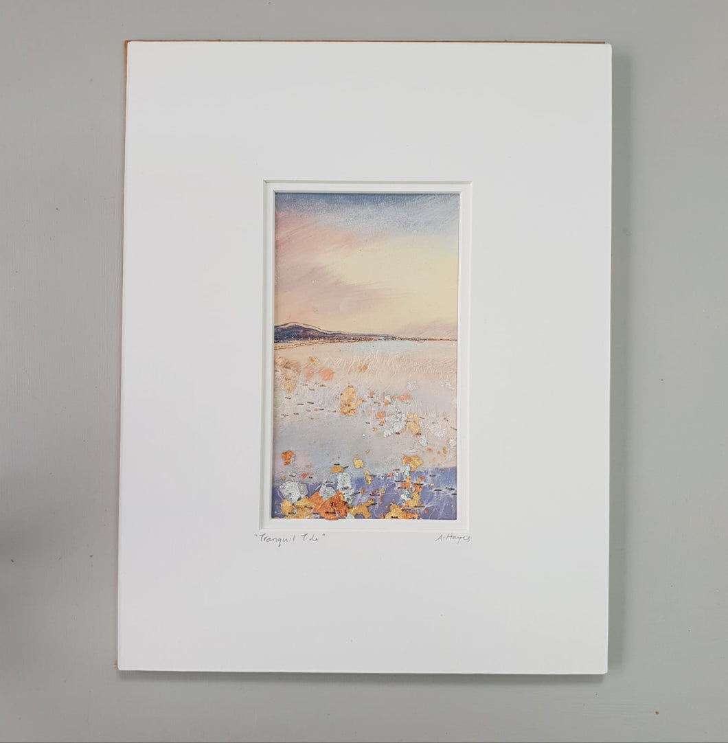 Small Mount Hand Made Textile Art: Tranquil Tide