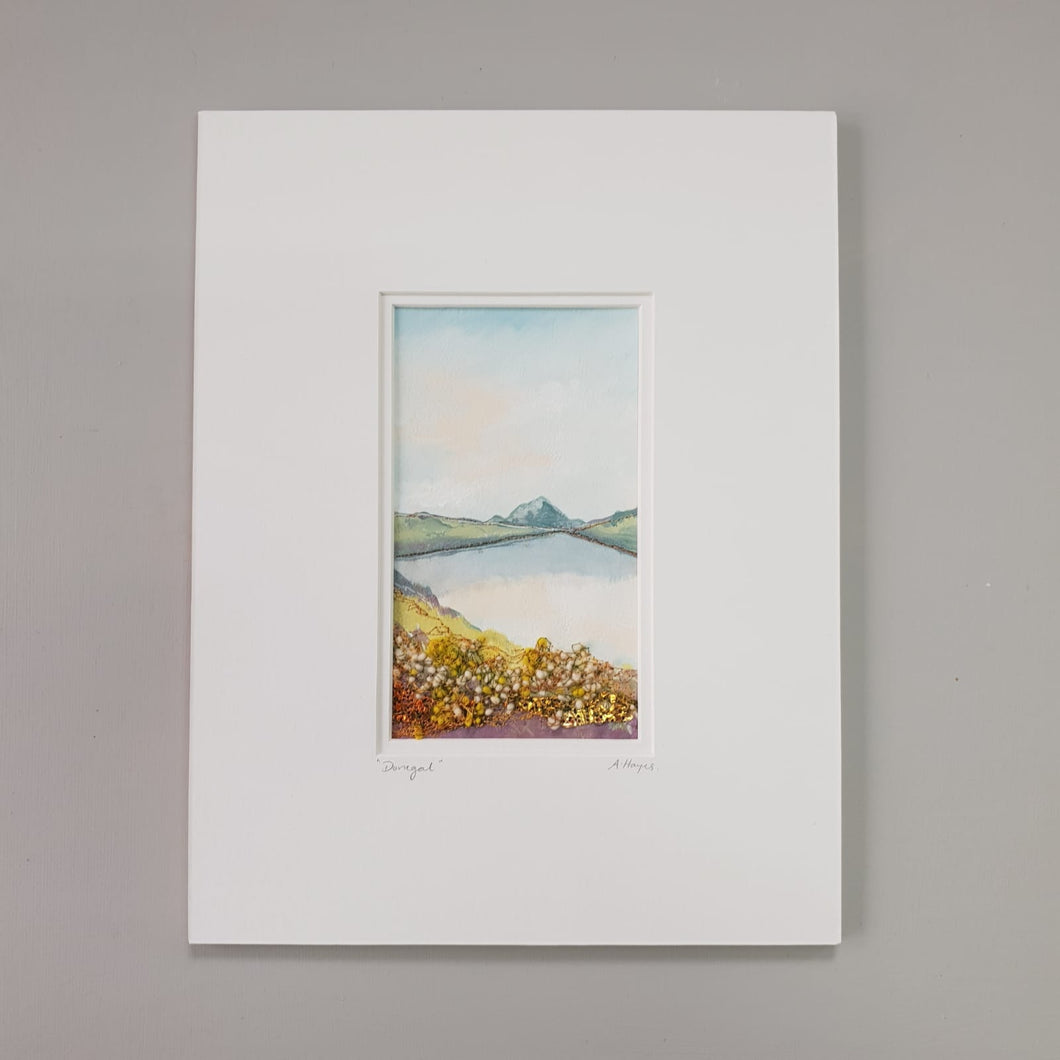 Small Mount Hand Made Textile Art: Donegal