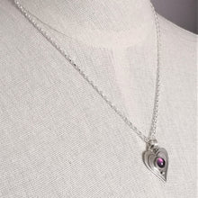 Load image into Gallery viewer, Heart Pendant: Amethyst Stone