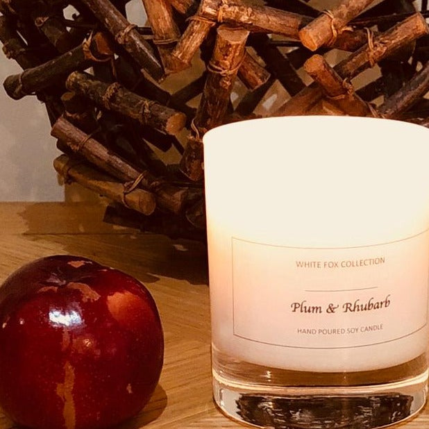 Plum & Rhubarb: Large Candle