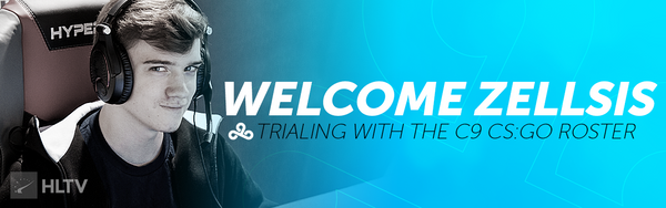 Cloud9 Welcome Zellsis For CS:GO Trial